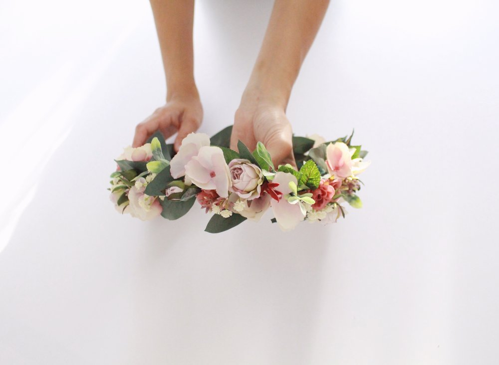 The floral crown design we will be creating!