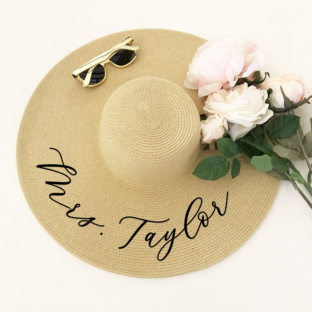 bridesmaids gift sun hat