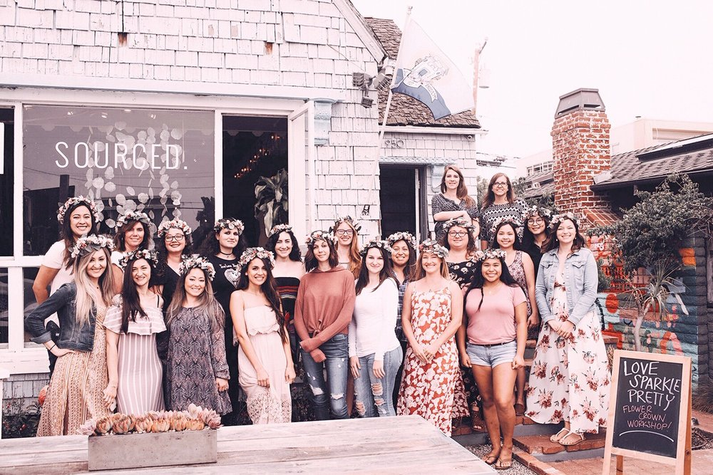 flower crown workshop with Love Sparkle Pretty in Southern California