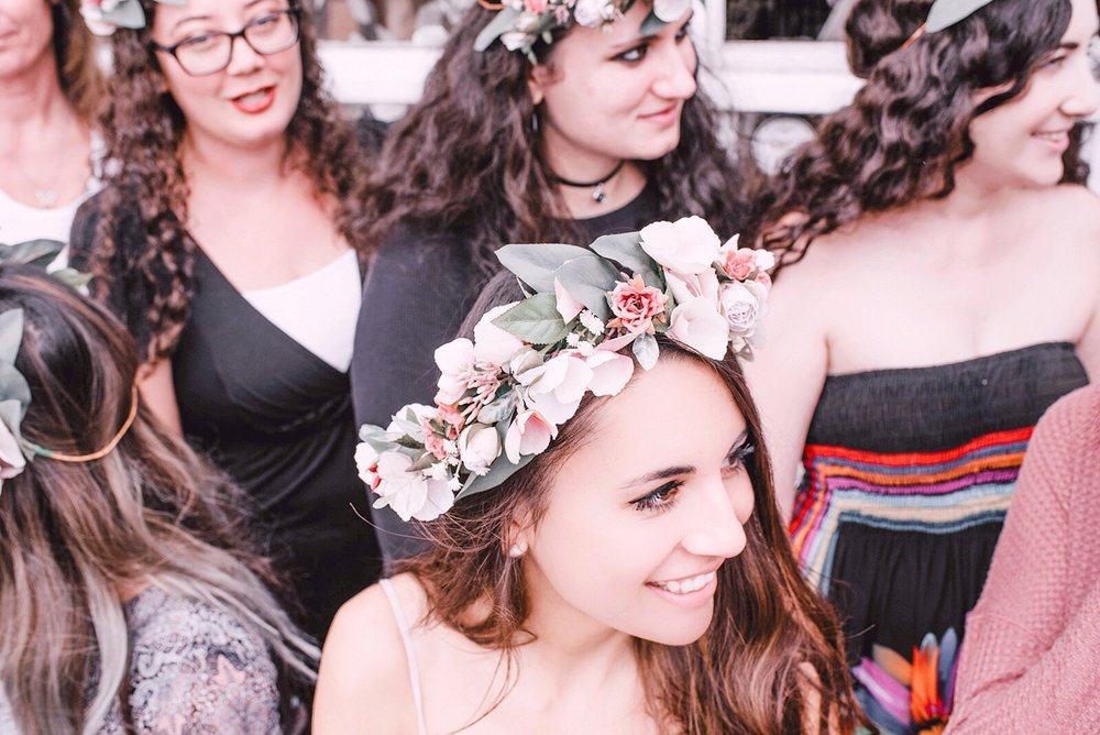 flower crown workshop in southern California with Love Sparkle Pretty