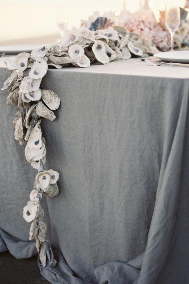 12 coastal ideas 12 essential etsy finds oyster table garland