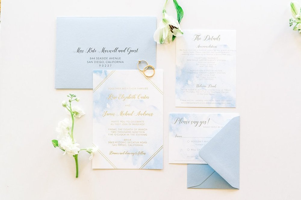12 coastal wedding ideas invitation suite