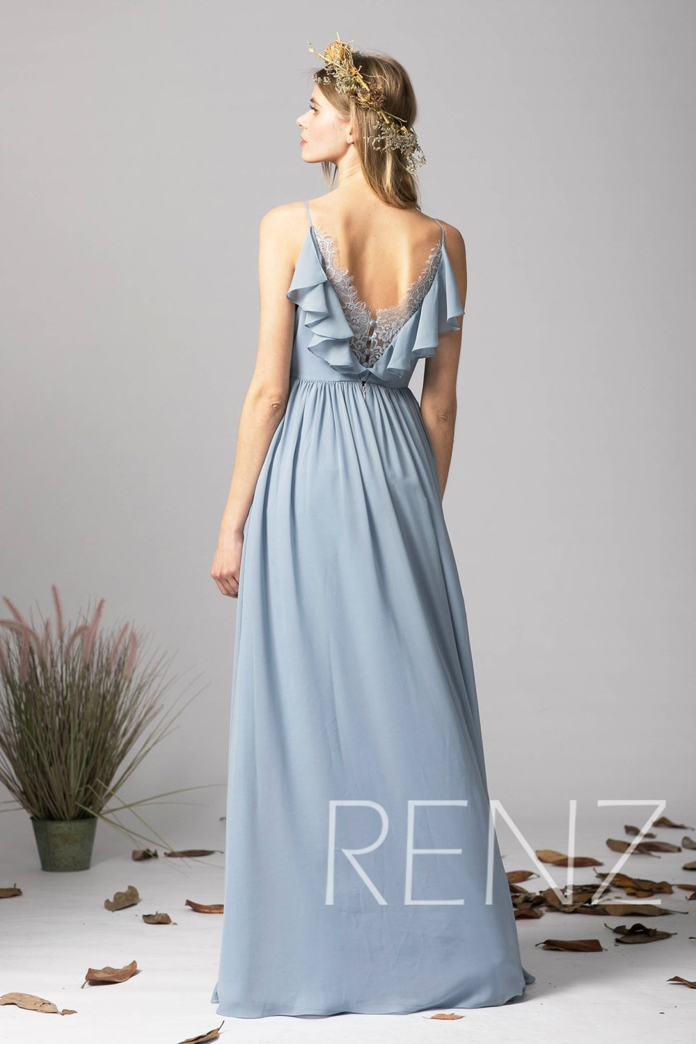 12 coastal ideas bridesmaids dusty blue dress