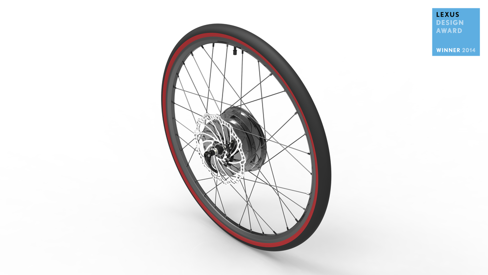 E-Wheel™ complete assembly (rendering image)