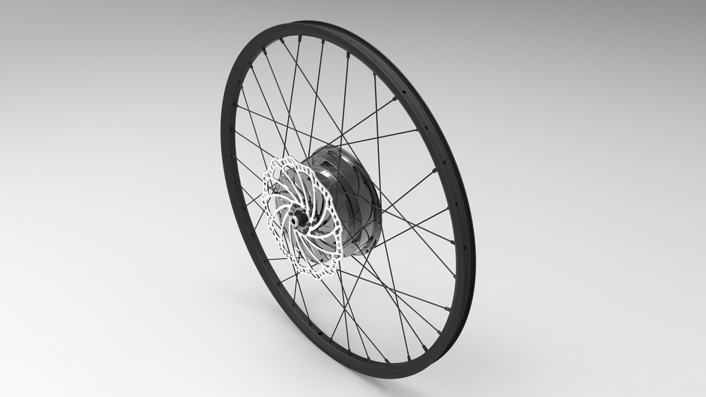 E-Wheel™ complete assembly (Iso top left view)