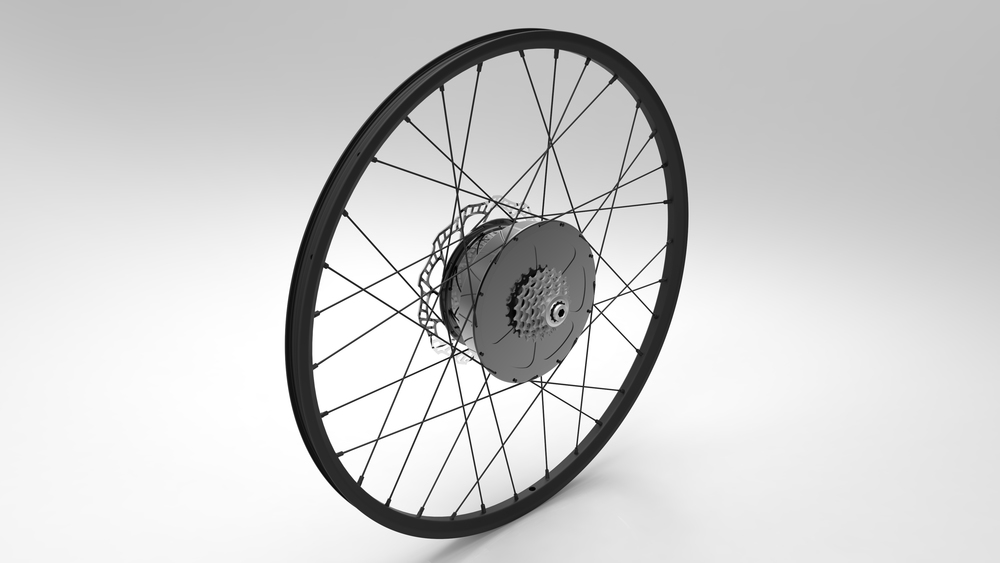E-Wheel™ complete assembly (Iso top right view)