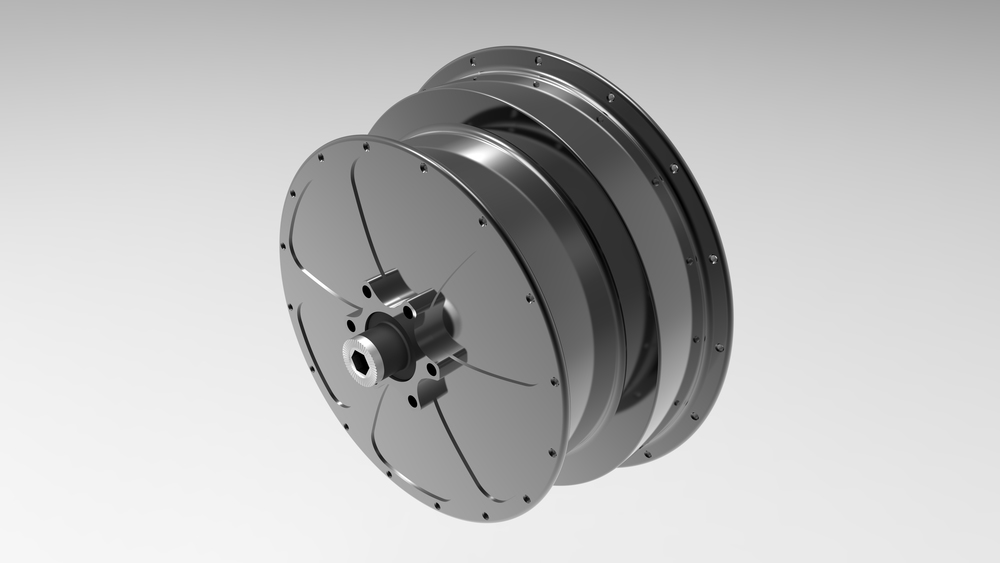 Integrated hub (Iso top left view)