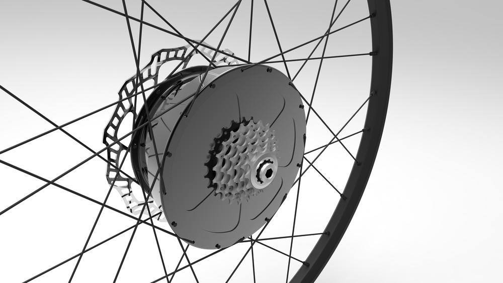 E-Wheel™ with 5-speed freewheel