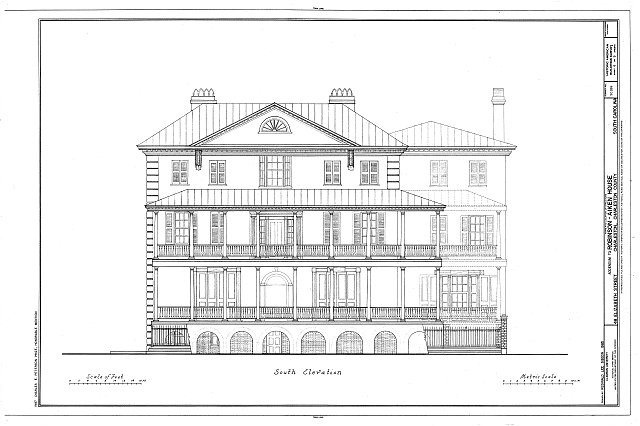 Front elevation, drawing