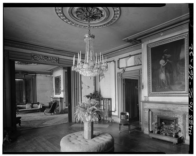 First floor southwest room, also known as the two symmetrical drawing rooms.