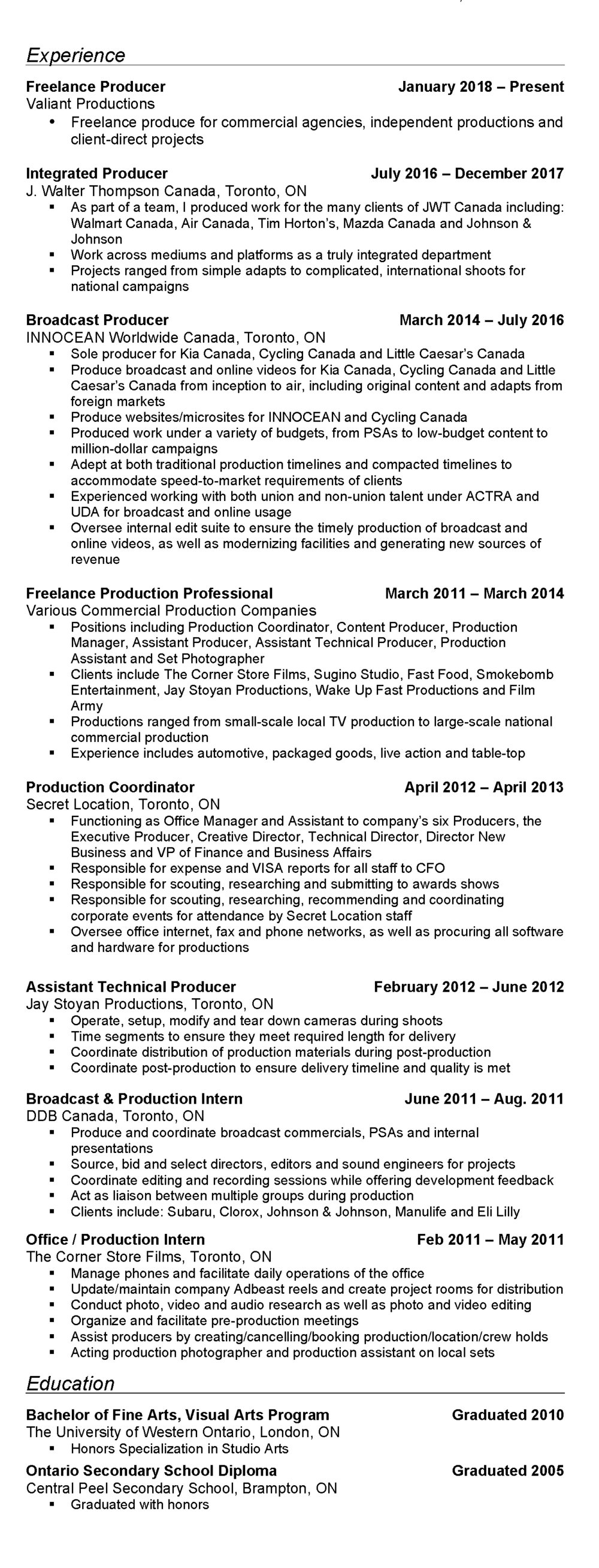 Resume of Adam Park