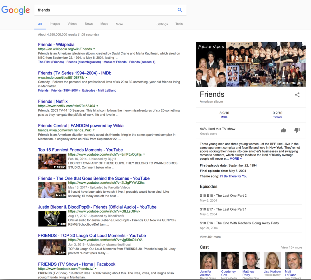 fig 3., lack of native advertising on google, since it depends on the search result