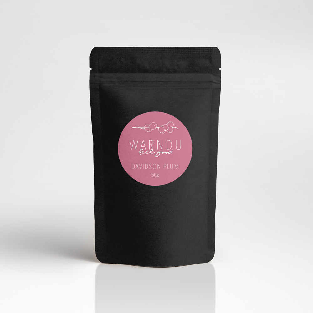 Our Davidson Plum powder is freeze dried at its source for maximum freshness and shelf life... It comes in 50g easy to use resealable packs...