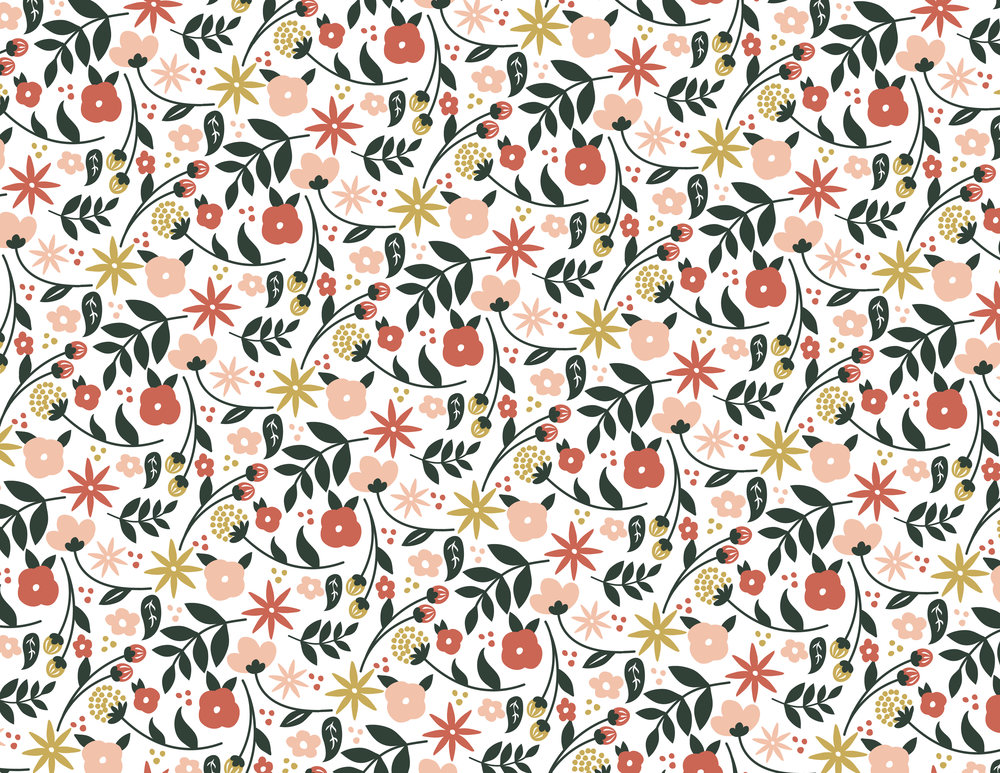 Floral repeat pattern from calendar