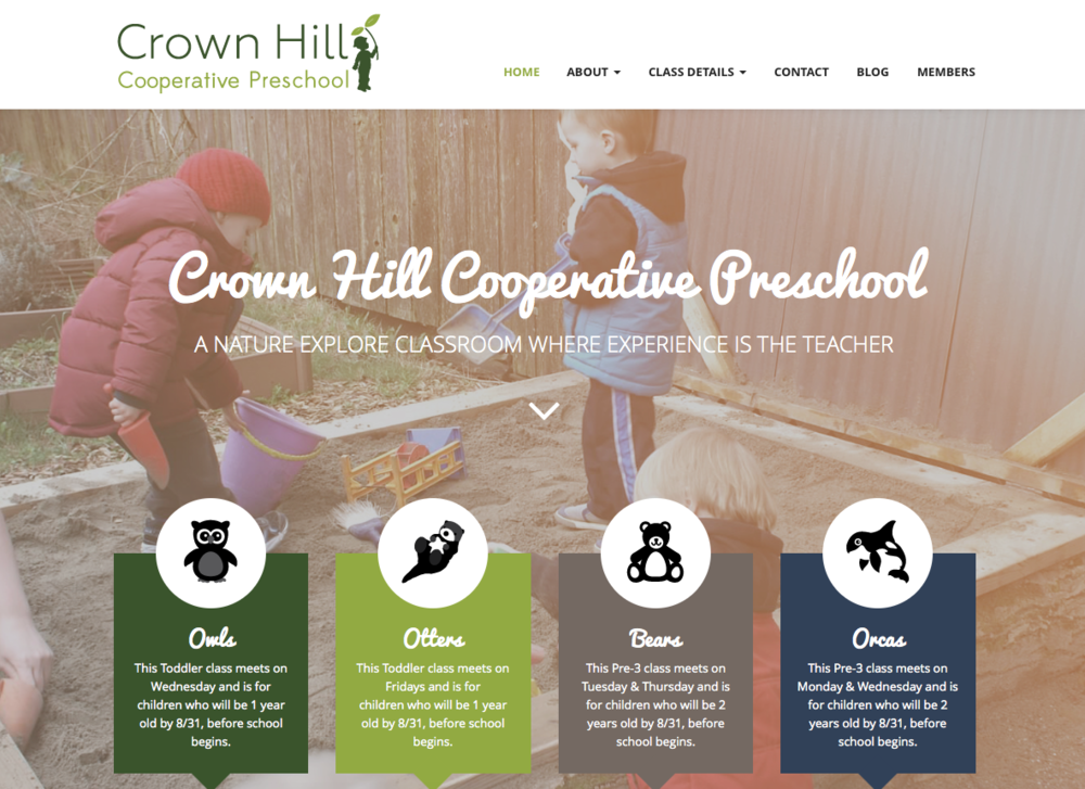 Website Design - Crown Hill Preschool