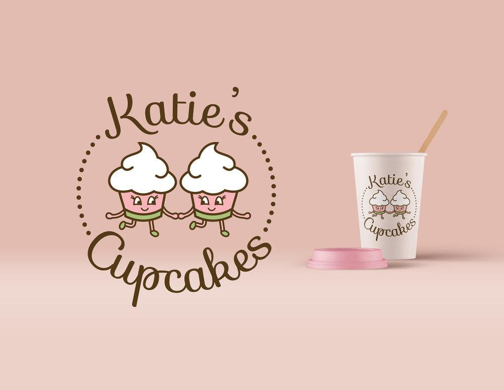 Logo design & advertising displays - Katie's Cupcakes Bakery
