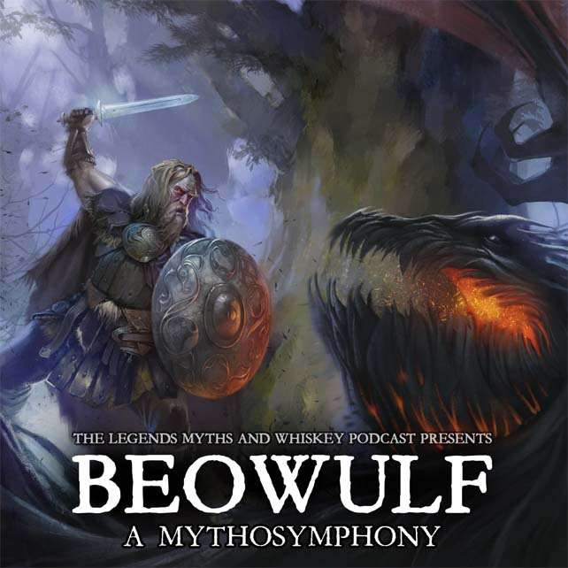 Art by Paolo Puggioni. Designed for Beowulf: A Mythosymphony by Satyr Productions. Album cover.