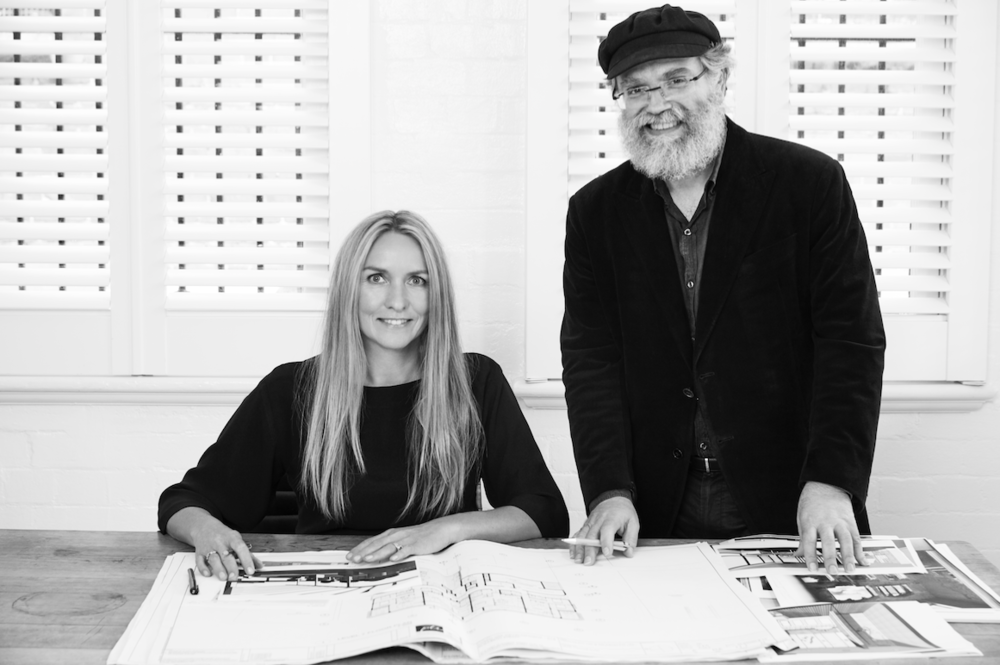 Collette Dinnigan and Peter Israel in Surry Hills