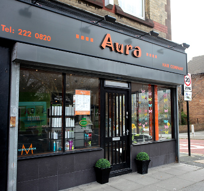 Aura salon front, Aigburth, Liverpool