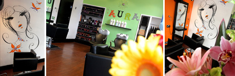 Aura Hair Company, salon interior