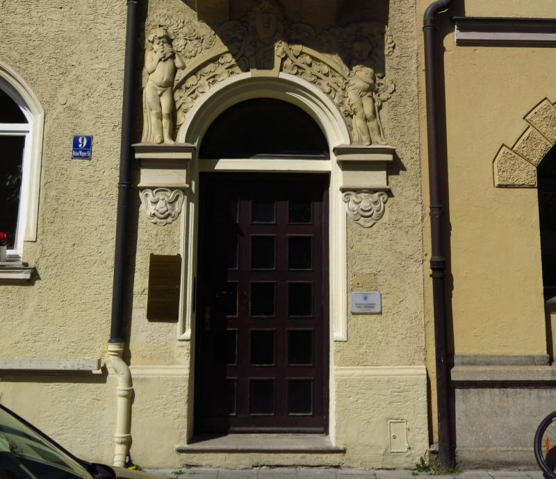 Eingangstür der Psychosomatischen Beratungsstelle