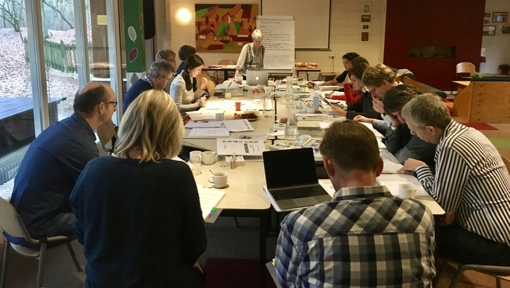 Jenni leading a leaders retreat and workshop in the Netherlands