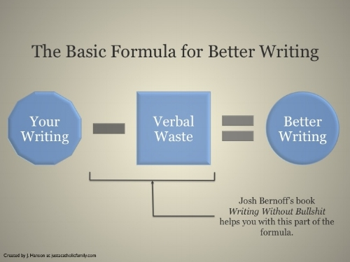 Josh Bernoff's book — Writing Without Bullshit — shows you how to eliminate verbal waste in your writing.