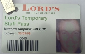 Lords Cricket Season