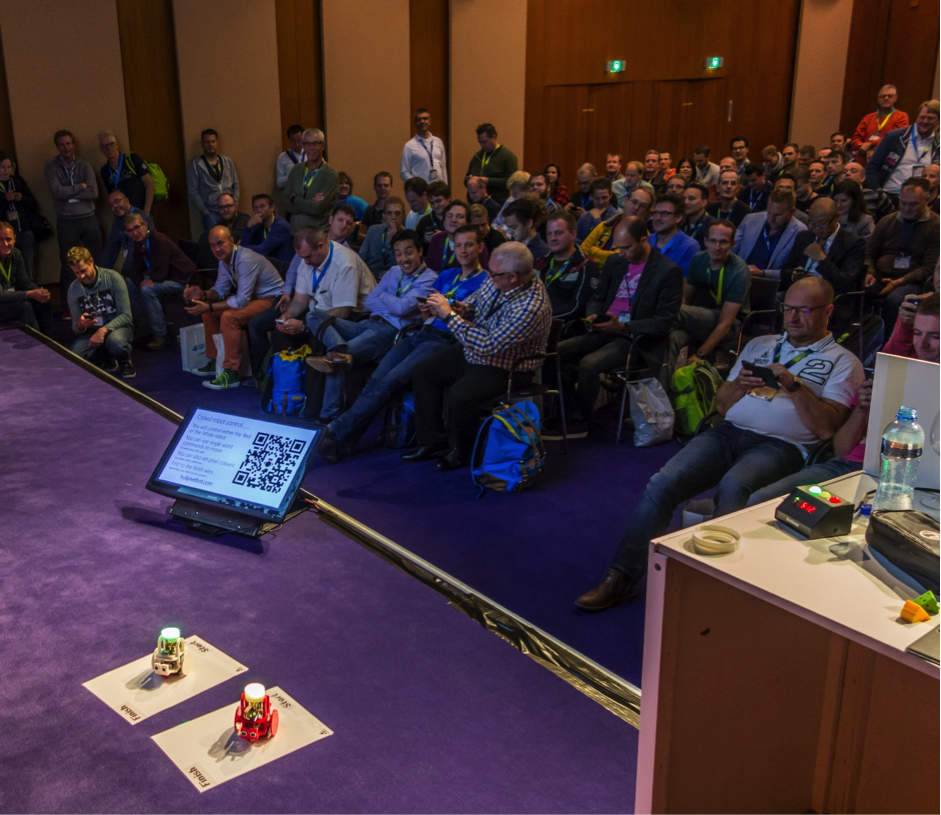 HullPixelbots racing at Microsoft Techdays!