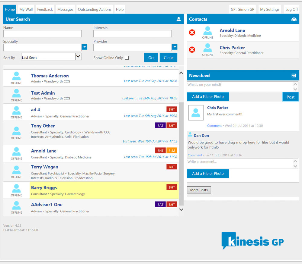 A quick look at Kinesis' home page, the simple yet functional UI is essential for user acceptance.