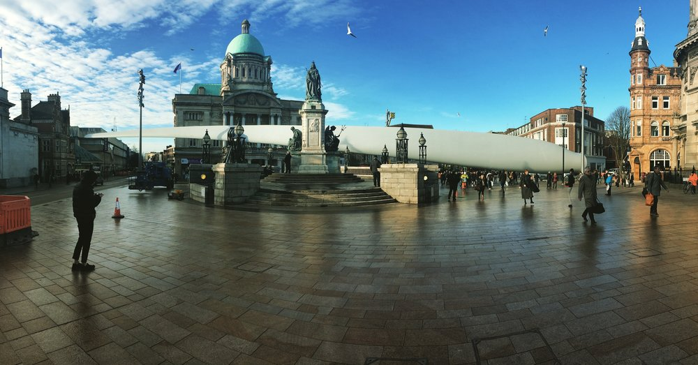 The 'Blade' project currently in place in Queen Victoria Square until mid-March 2017.