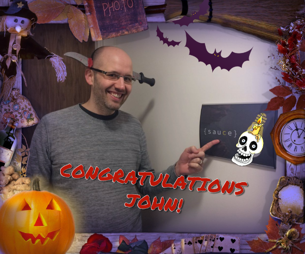 John Polling, winner of our Halloween competition.