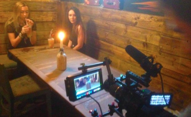 Adview's Jessica Palmer on the set of 'Northern Fall'