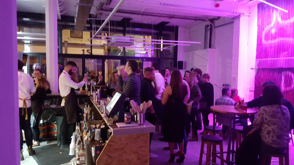 An evening at Humber Street Gallery, with Phil's cocktail bar proving to be very popular!