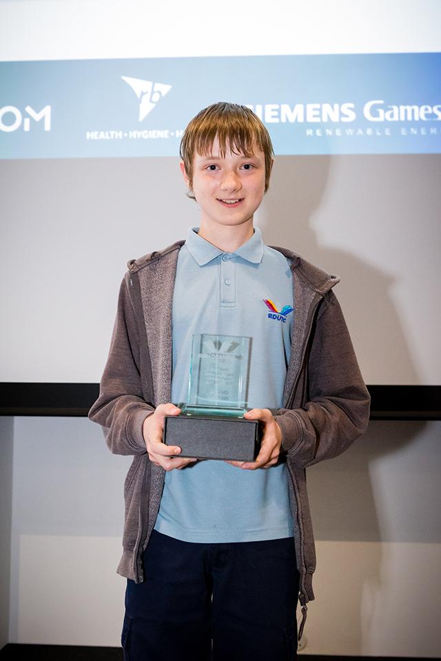 Javid Mann, Hull's Junior Digital Champion 2018. Image Credit :  Ron Dearing UTC .