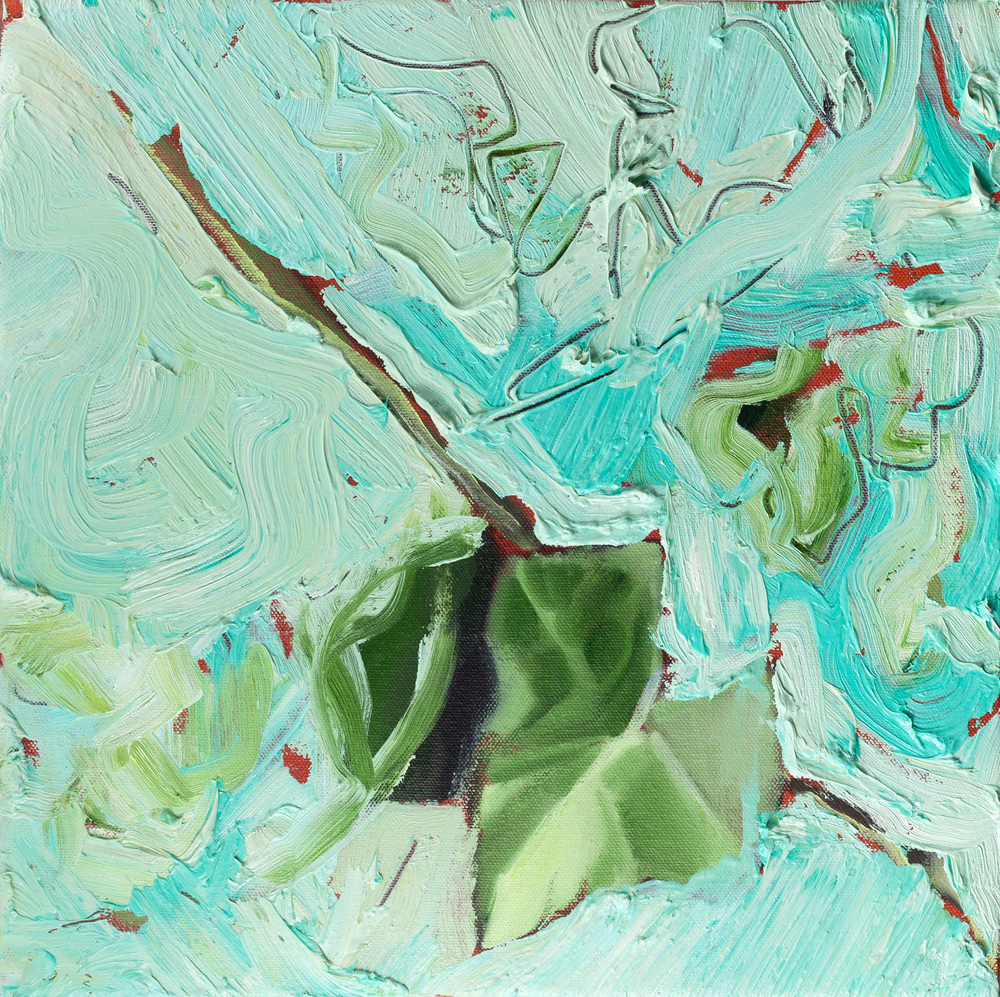 Ivy, Oil on canvas, 30x30 cm, 2014