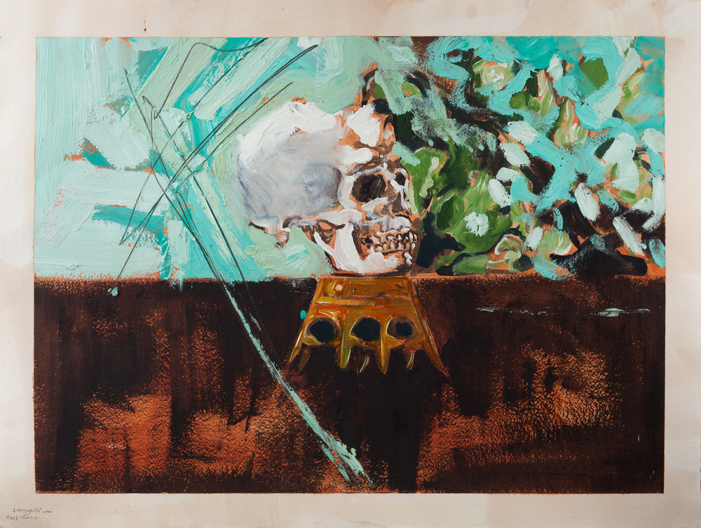 To William James, Oil on paper, 80x90 cm, 2013