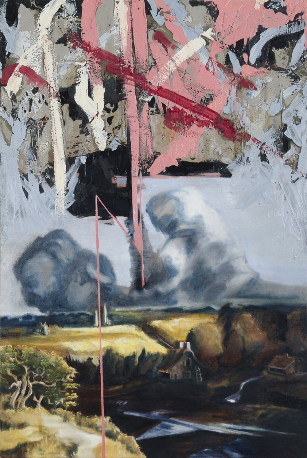 Heaven Emasculated II, Oil on canvas, 160x100 cm, 2012