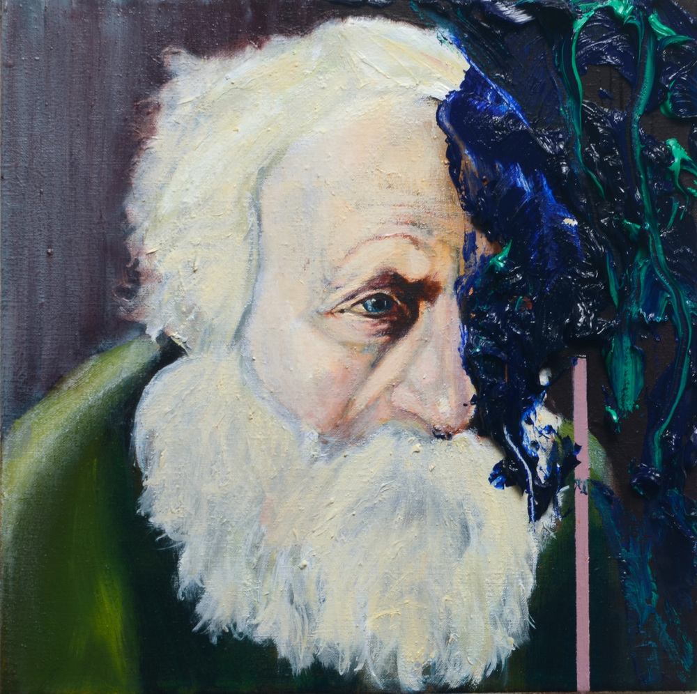Martin Buber, Oil on canvas, 30x30 cm, 2012