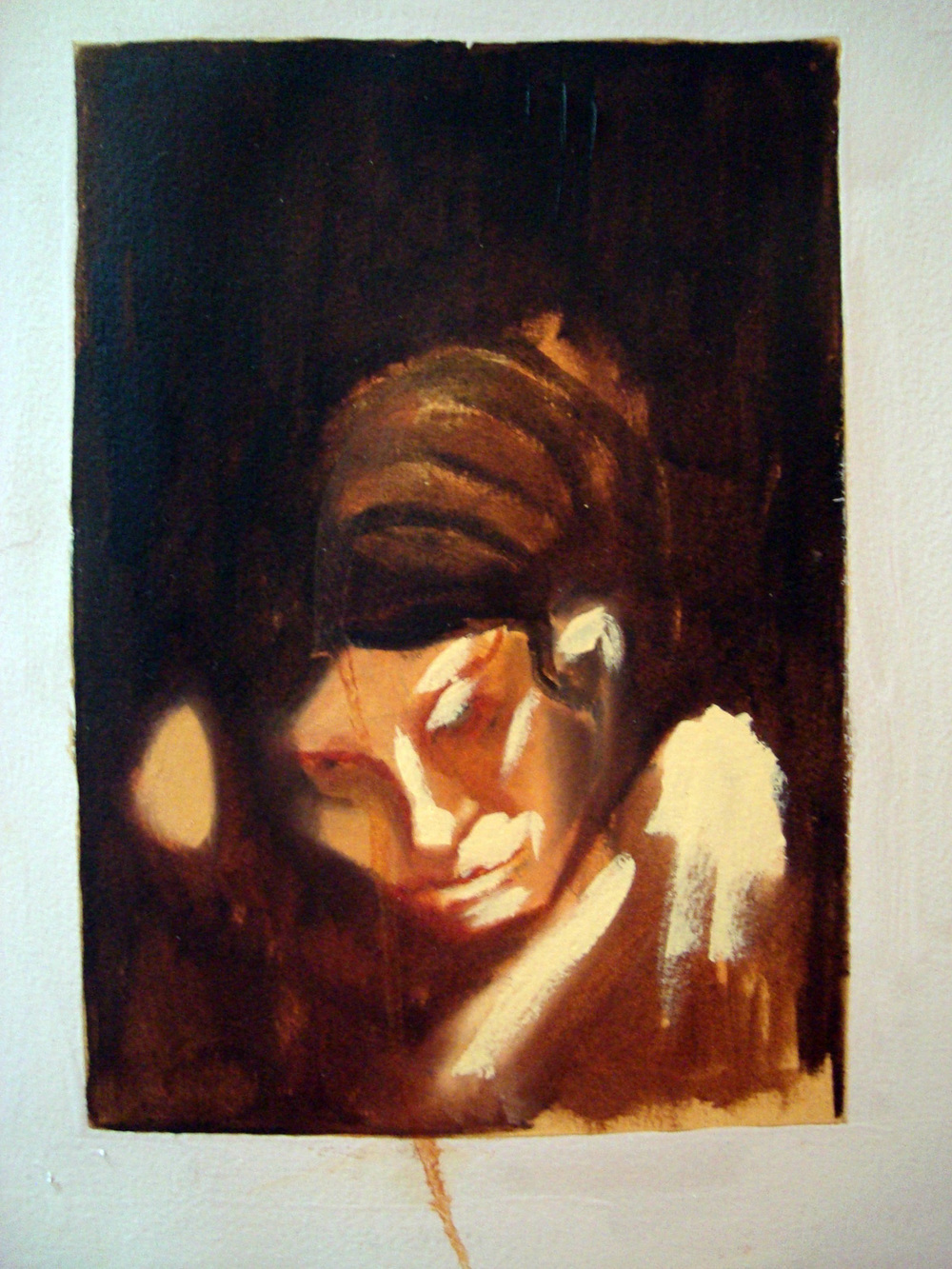 Forgotten Loves I, Oil on paper, 30x60 cm, 2010