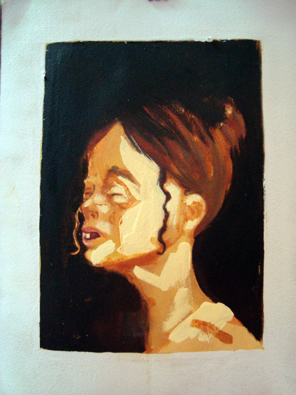 Forgotten Loves III, Oil on paper, 30x60 cm, 2010