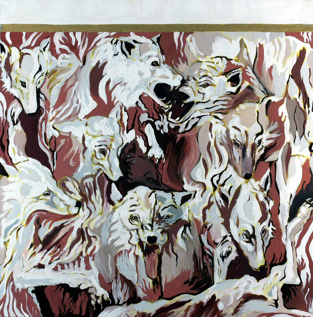 Wolves I, Oil on canvas, 100x100 cm, 2010