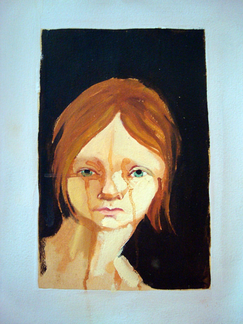 Forgotten Loves II, Oil on paper, 30x60 cm, 2010