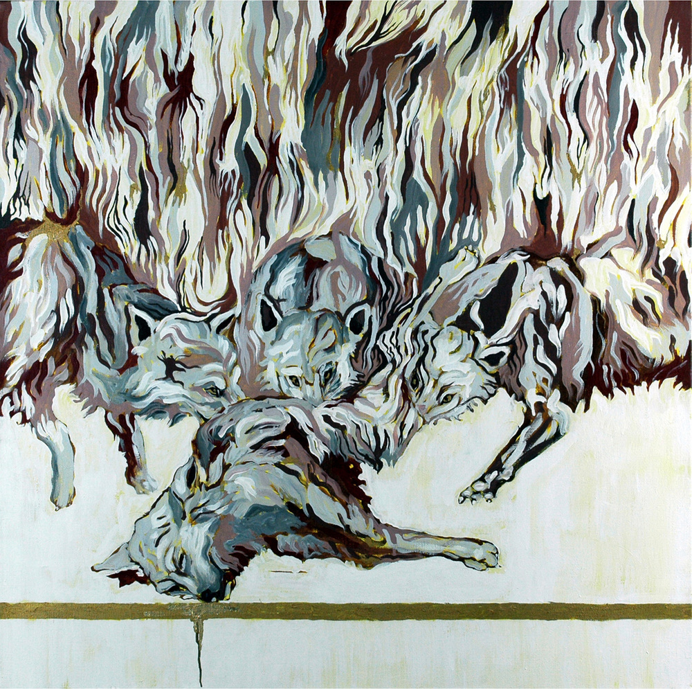 Wolves II, Oil on canvas, 100x100 cm, 2010