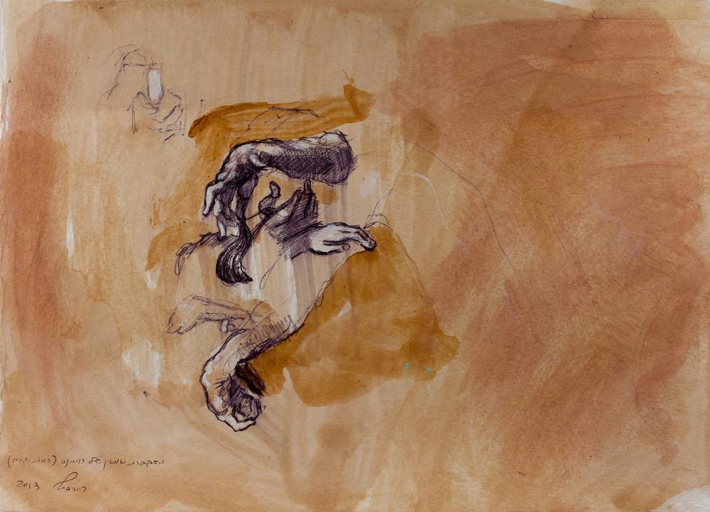 Samson (rubens) VI, Ballpoint on paper, 25x30 cm, 2013