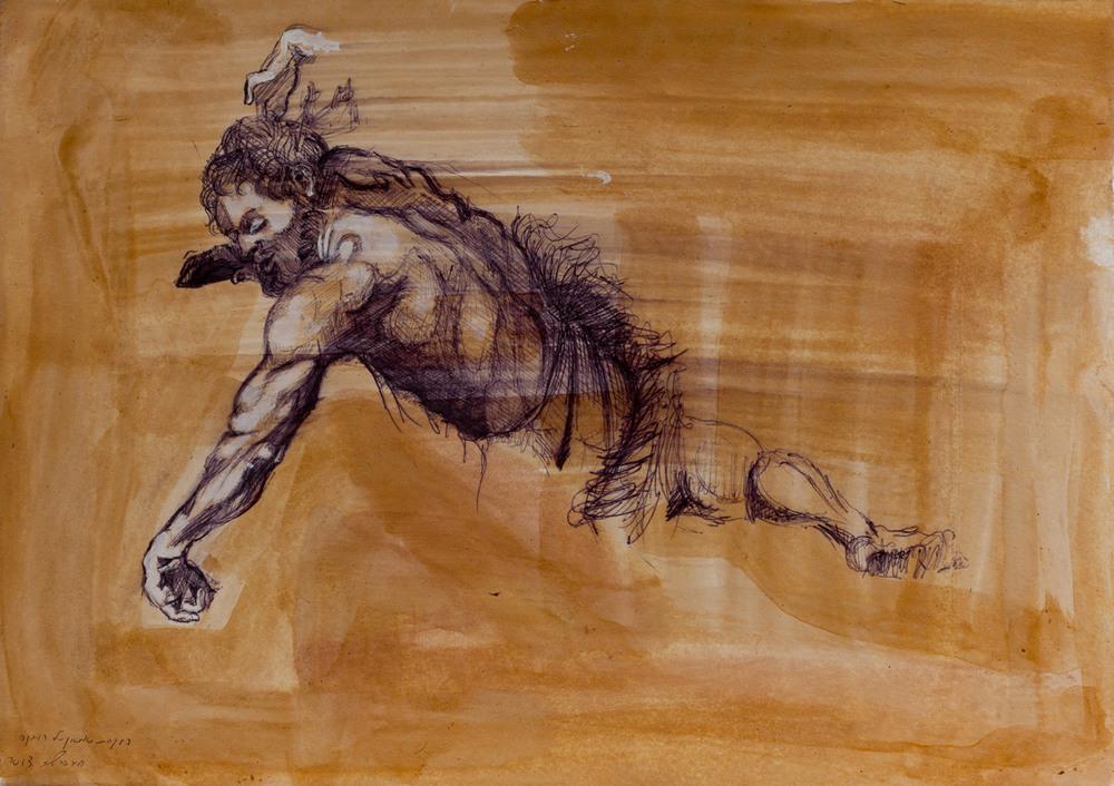 Samson (rubens) III, Ballpoint on paper, 25x30 cm, 2013