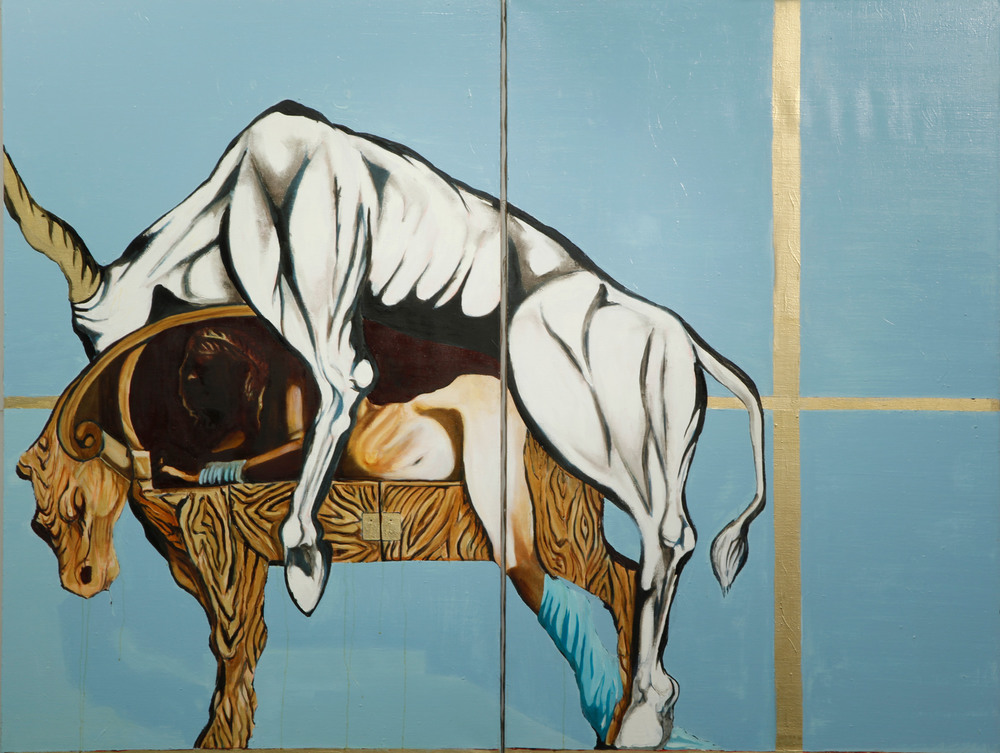 Pasiphae, Oil on Canvas, 200x160 cm, 2011