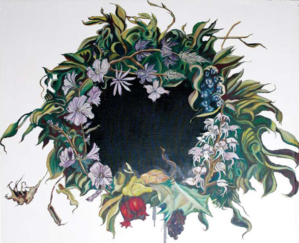 Wreath I, Oil on canvas, 120x150 cm, 2008
