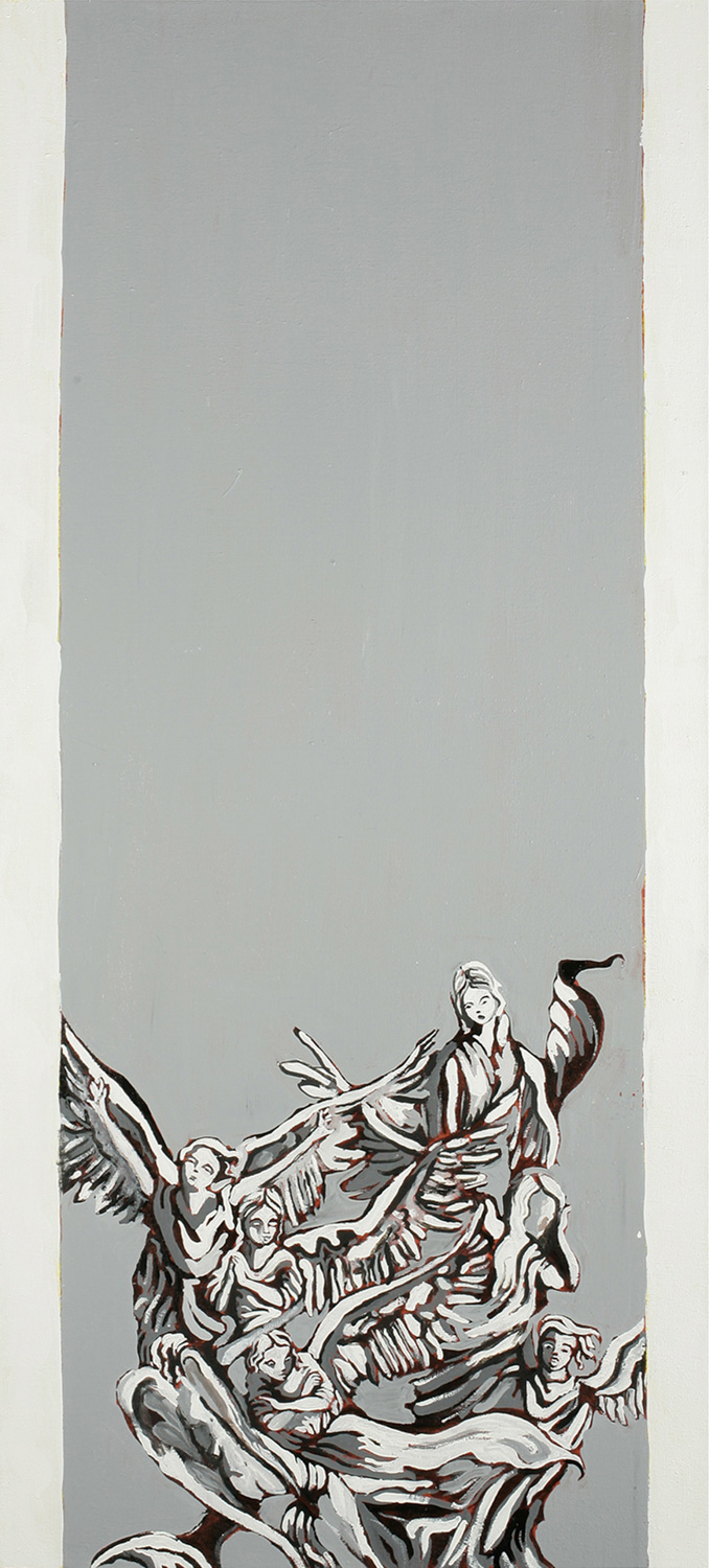 Column (Boaz), Oil on canvas, 100x40 cm, 2008