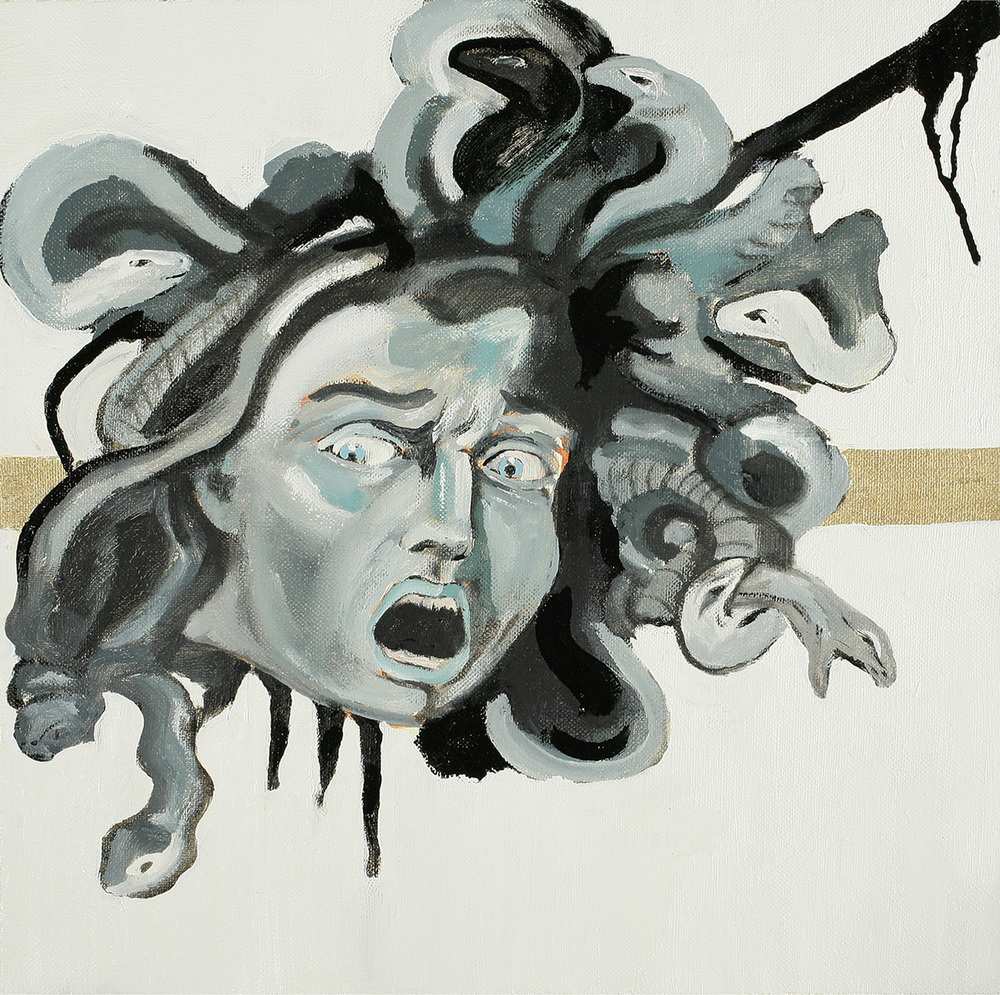 Medusa, Oil on canvas, 50x50 cm, 2008